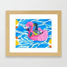 New Yorker Holiday Framed Art Print