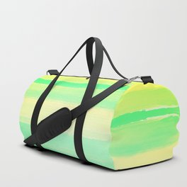 Abstract Colorful Watercolor Stripes Pattern Duffle Bag