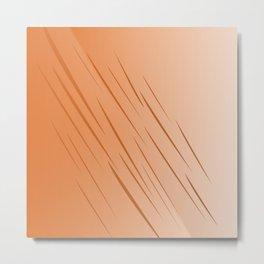 Design lines, gold Wood choco Metal Print