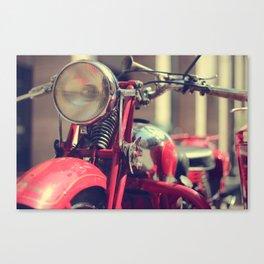 Old style Moto Guzzi Canvas Print