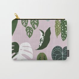 Leaves composition 2 pink background Carry-All Pouch