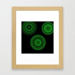 Emerald Machine Framed Art Print