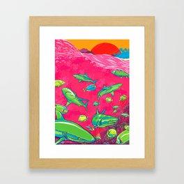 The Reef Framed Art Print
