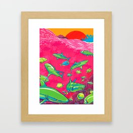 The Reef Framed Art Print