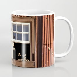 Red Window full of birds Coffee Mug