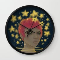 astronaut Wall Clocks featuring Astronaut by Edge