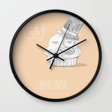 british muffin Wall Clock