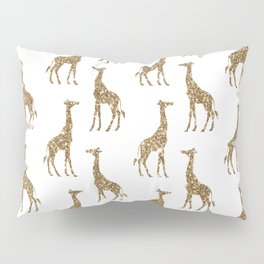 Gold Glitter Giraffe Pattern Pillow Sham