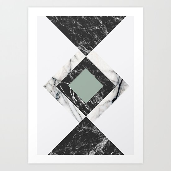 Green Marble Art Print