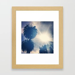Palm trees and sun #1 Framed Art Print