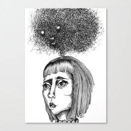 Nightmares that haunt - coracrow Canvas Print