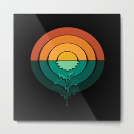 Circles Landscape Metal Print