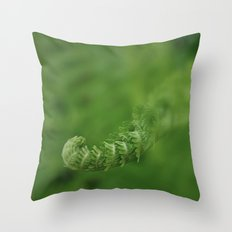 Spring Unfolding Throw Pillow