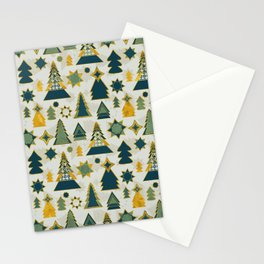 christmas trees gold Stationery Cards