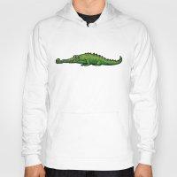 crocodile Hoodies featuring Crocodile by chacomics