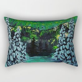 Snowy Aurora Rectangular Pillow