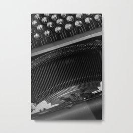 Typewriter Metal Print