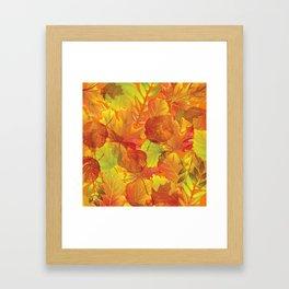 Autumn leaves #4 Framed Art Print