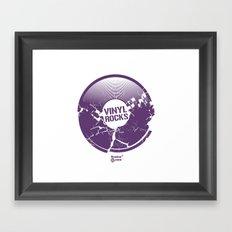 Vinyl Rocks Framed Art Print
