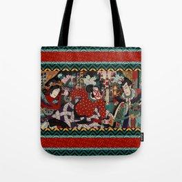 Kabuki Samurai Warriors Tote Bag