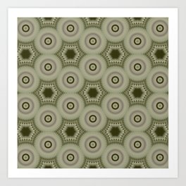 Fractal Cogs n Wheels in CMR02 Art Print