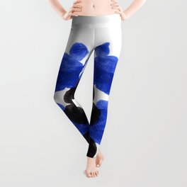 Periwinkle Purple Blue And Black Ink Blot Diagram Leggings
