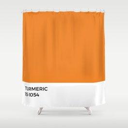 Turmeric Pantone Chip • Spice •Orange •Food Art • Design • Graphics • Minimalism • Classic Print Shower Curtain