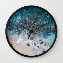 The Ocean Drone Photo Wall Clock