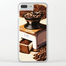coffee grinder 4 Clear iPhone Case