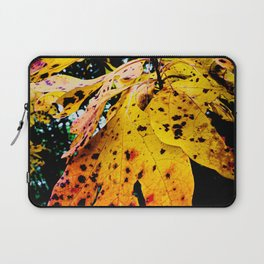 Red Spotted Fall Leaves Laptop Sleeve