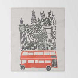 London Cityscape Throw Blanket