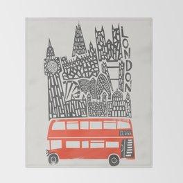 London Cityscape Throw Blanket