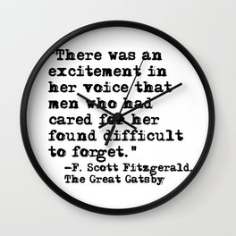 Excitement in her voice ― Fitzgerald quote Wall Clock