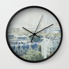 Letters From The Seine - Paris Wall Clock