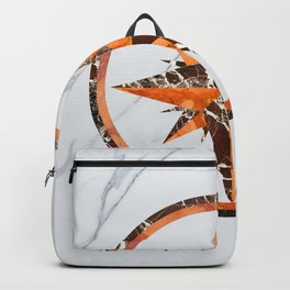 Wind rose ~ Inlaid marble Backpack