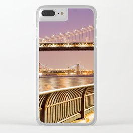 New York City Nights Clear iPhone Case