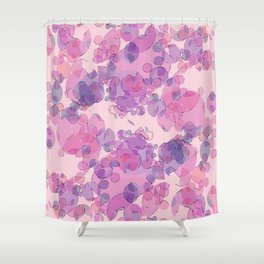 Boiling water in magenta: soft abstract digital art fashionable modern colors Shower Curtain