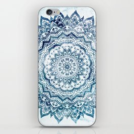 BLUE JEWEL MANDALA iPhone Skin