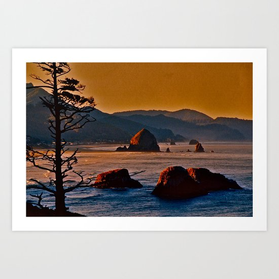 Along the Oregon Coast Art Print