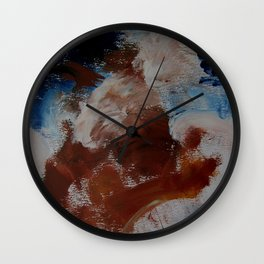 water and earth abstract Wall Clock