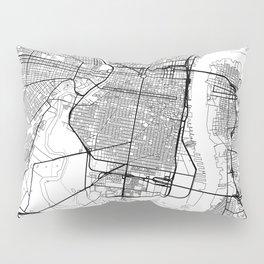Philadelphia Map White Pillow Sham