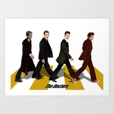 The Doctor who at abbey road iPhone 4 4s 5 5c 6 7, pillow case, mugs and tshirt Art Print