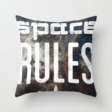 Space Rules Throw Pillow