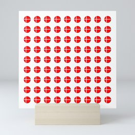 Flag of Denmark 4-danmark,danish,jutland,scandinavian,danmark,copenhagen,kobenhavn,dansk Mini Art Print