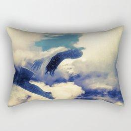 Woman and sky Rectangular Pillow