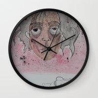 edward scissorhands Wall Clocks featuring edward scissorhands by Chad spann
