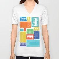 cassette V-neck T-shirts featuring Cassette Heaven by Scott - GameRiot