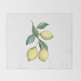 Lemon Dreams Throw Blanket