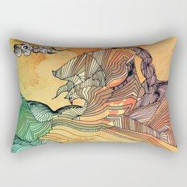 Wave of Thought Rectangular Pillow