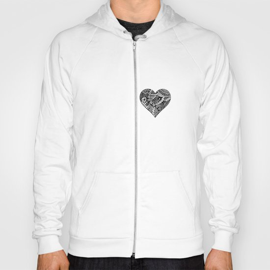 Abstract Heart Hoody